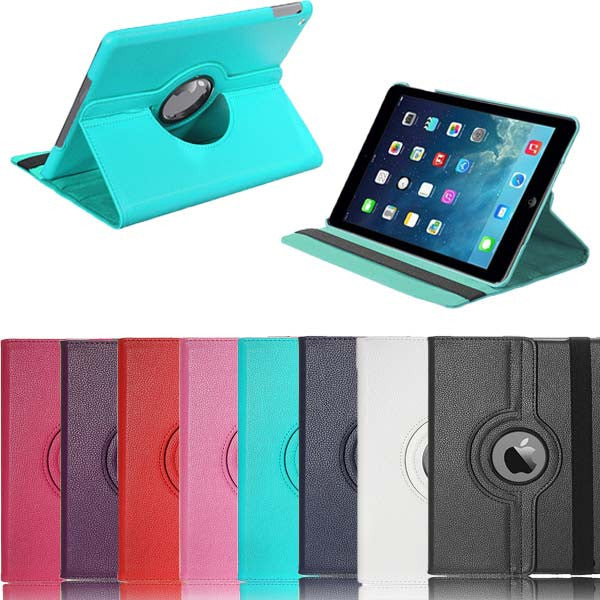 360 Rotating PU Leather Swivel Stand Case Cover For iPad Air 1