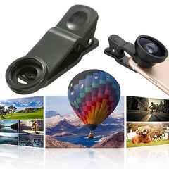 5 In1 2X Zoom Telephoto Macro Wide Fish Eye CPL Lens With Clip For iPhone 6/6s Plus Samsung Xiaomi Huawei