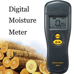 Digital Moisture Meter Detector Timber Damp Wood Tree Brick Humidity LCD Tester
