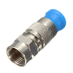 5 Pcs Waterproof RG6 Coax Compression Cable F Connector Coaxial Fitting Adapter