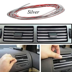 5M Flexible Trim Fashion Car Interior & Exterior Moulding Strip Decorative Line