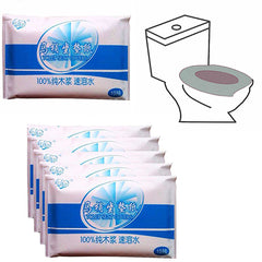 10Pcs Protable Toilet Seat Cover Closetool Biodegradable Sanitary Disposable Paper