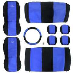 TIROL Car Seat Covers Auto Cushion with Steering Cover Universial Type