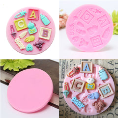 ABC Kid Christening Shaped Silicone DIY Mould Chocolate Baking