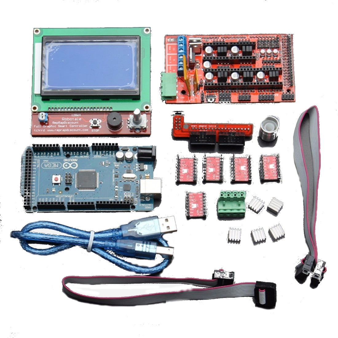 Geekcreit® LCD 12864 RAMPS 1.4 Board 2560 R3 Control Board A4988 Driver Kit For 3D Printer