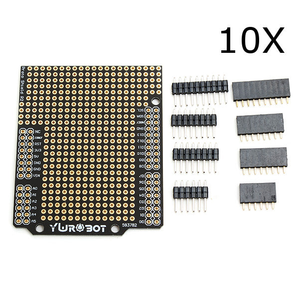 10Pcs DIY PCB Prototyping Protoshield Expansion Board Kit Compatible UNO R3 For Arduino