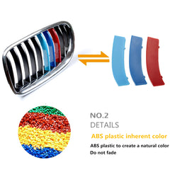 M Colors M Style Buckle Clip For BMW 3-Series 11-Bar Front Kidney Grille Grill