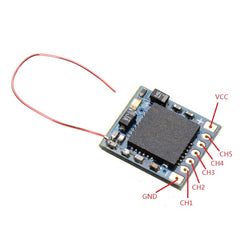 DasMikro DSM2 5CH 2.4Ghz RC Micro Receiver With 6 CH PPM Output For JR Spektrum transmitter