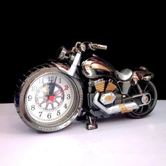 Loskii 3D Home Decorative Motorcycle Alarm Plastic Cool Clock Birthday Gift Random Color