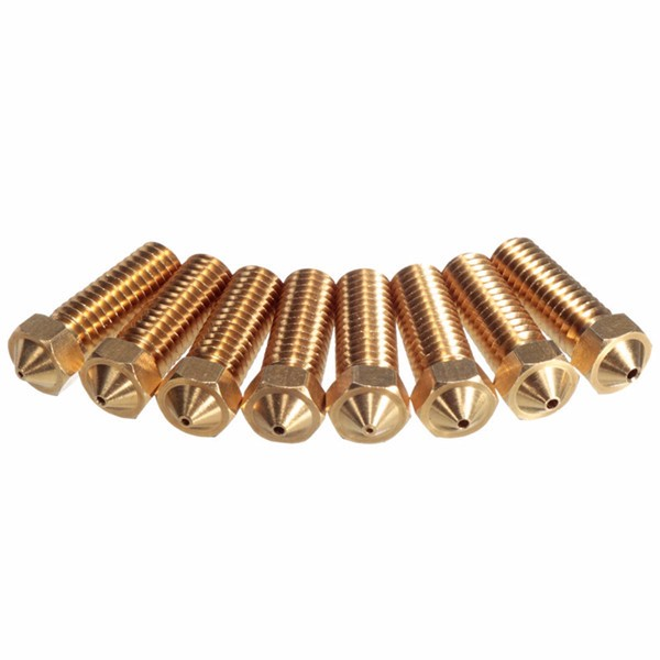 4 Size Brass Nozzle 3.0mm-1.75mm ABS-PLA Filament Extruder Nozzle For 3D Printer