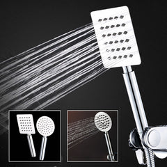 2mm Thinckness Square Stainless Steel Handheld Shower Head Round Pressurized Anti Scald Shower