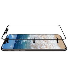 3D Soft Edge Carbon Fiber Tempered Glass Screen Protector For iPhone X