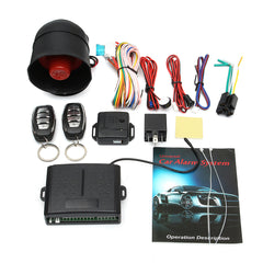 Car Vehicle Protection Alarm Security System Keyless Entry Siren + 2 Remote