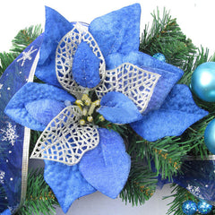 22cm Blue Christmas Tree Decoration Accessories Scene Layout