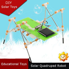 DIY Puzzle Toys Educational Toys Solar Quadruped Robot