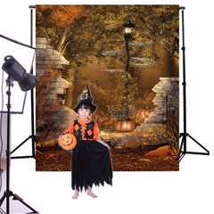5x7ft Halloween Street Lamp Backdrop Photography Props Studio Photo Background
