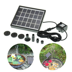 5V 1.5W Solar Power DC Brushless Submersible Water Pump Garden Landscape Fountain