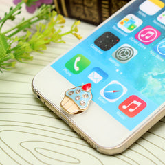 3D Cute Ice-cream Shape Home Button Sticker For iPhone iPad iPod