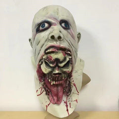 Halloween Party Home Decoration Horror Rotten Bloody White Mask Props Toys Supply For Kids Gift