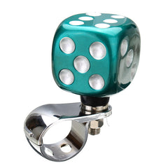 Car Steel Ring Wheel Ball Booster Resin Spinner Knob Grip Auxiliary Aid Control Handle Dice Design