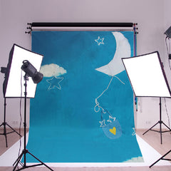 5x7ft Baby Children Cloth Photography Background Backdrop Shooting Studio Photo Props Sky Cloud Moon