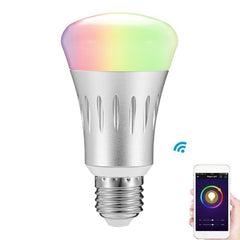 ARILUX® E27 8W RGB + White Dimmable Smart WIFI LED Light Bulb Works with Amazon Alexa Echo AC85-265V