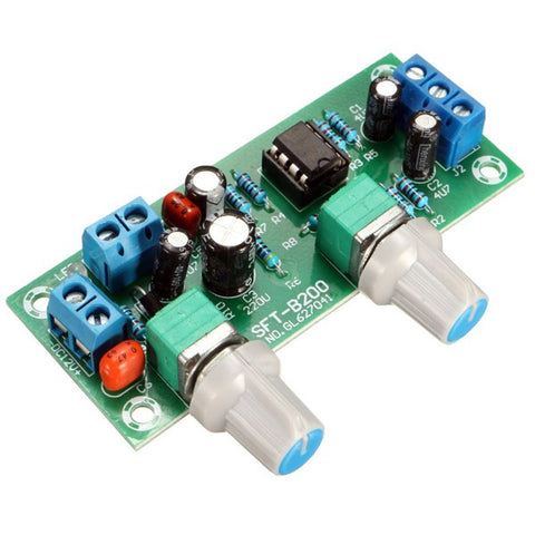 mini ne5532 preamplifier board with volume potentiometer finished