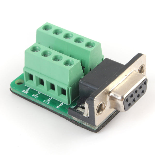 D-SUB DB9 Female To 9Pin Terminals Adapter Breakout Board Connector Insulation