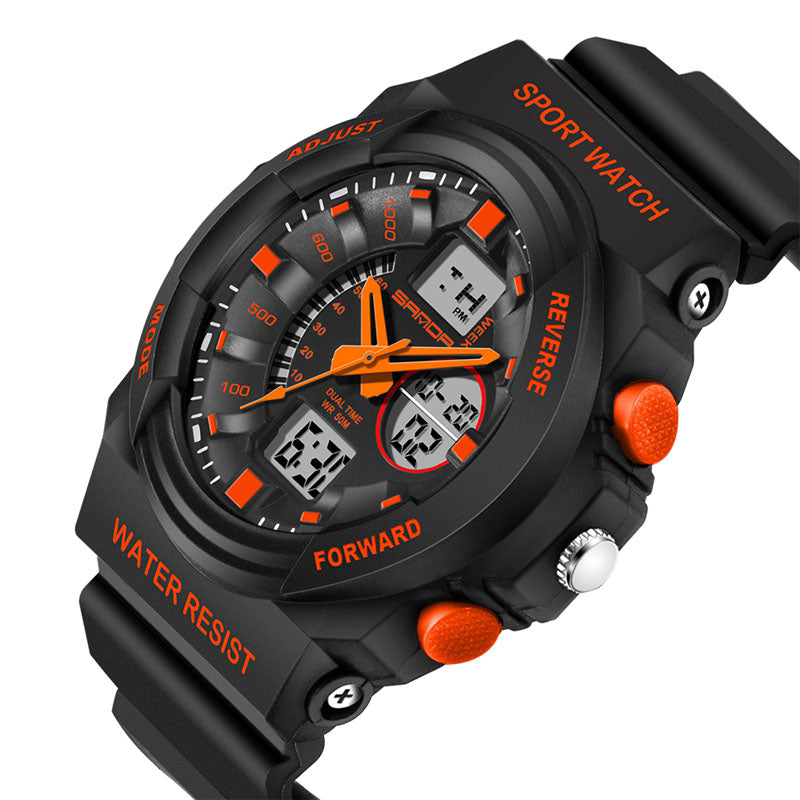 Wil je alles weten over SANDA 241 Waterproof Dual Display Backlight Sport Children LED Digital Watch? Hier lees je alles over Jewelry and Watch Quartz Watches