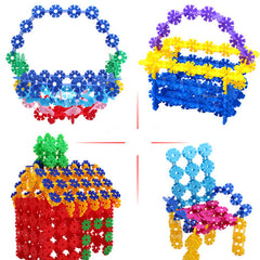 100Pcs Multicolor Snowflake Building Blocks Kid Educational Toy Puzzle