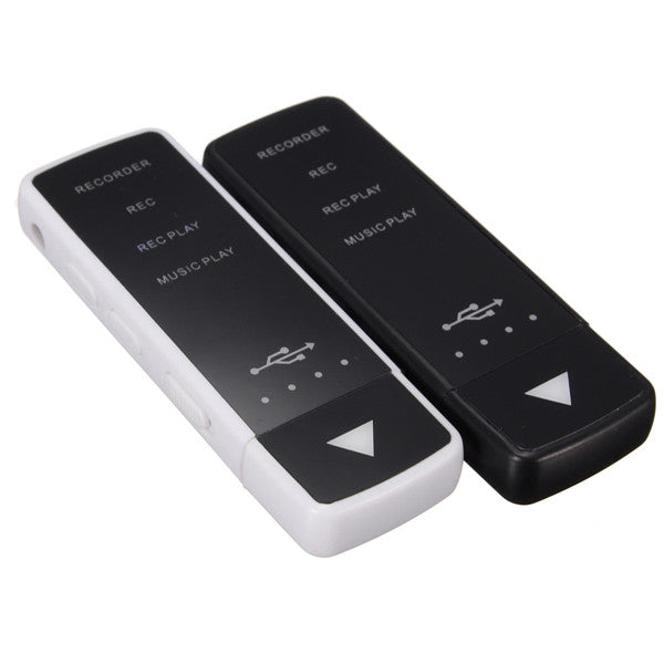 8GB LED Rechargeable Digital Audio Voice Recorder With Flash U Disk USB