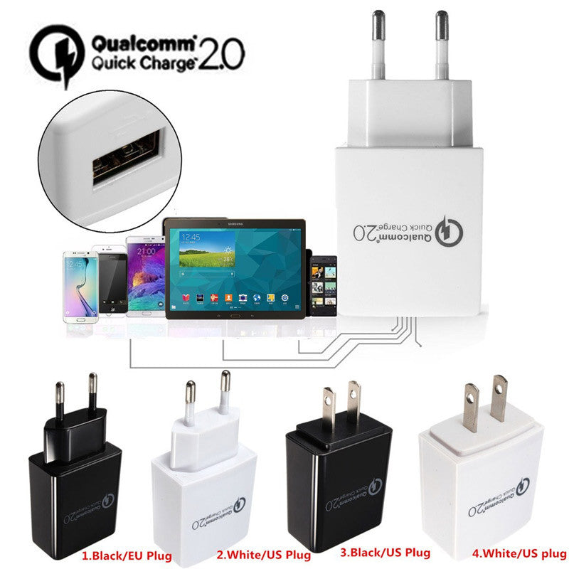 Quick Charge QC 2.0 15W USB Wall Travel Charger Adapter