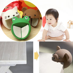 2Pcs Baby Kid Desk Corner Edge Protection Cover Cute Silicone Safety Protector