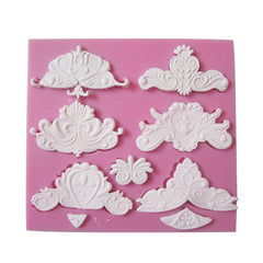 Euro Style Relief Silicone Fondant Mold Polymer Clay Mould