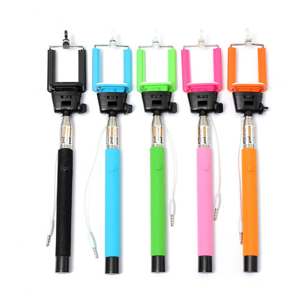 Wire Control Handheld Selfie Stick Monopod Extendable For iPhone Samsung Sony