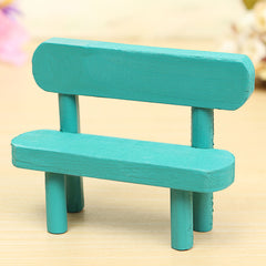 Wooden Mini Chair Photography Props Dolls House Park Furniture Accessories