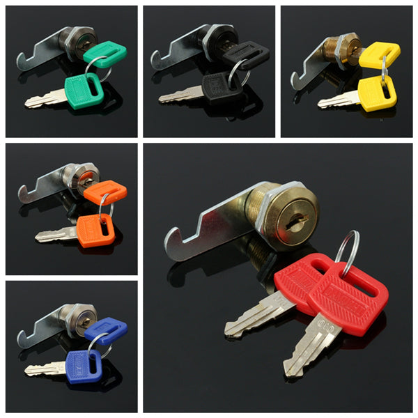 16mm Door Cam Lock File Cabinet Letter Mail Box Drawer Locks with 2 Key