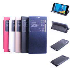 Fashion View Window Leather Case For DOOGEE DG550 DG550e