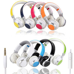 Fold Stereo Surround Mic 3.5mm Headband Earphone Headset for Samsung HTC LG