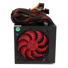500W Gaming SMART Silent 80mm Cooling Fan ATX 12V Computer Power Supply PC PSU
