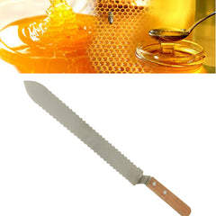 Stainless Steel Serrated Honey Comb Uncapping Knife Scraper Beekeeping Tool Honey Cutting Kinfe