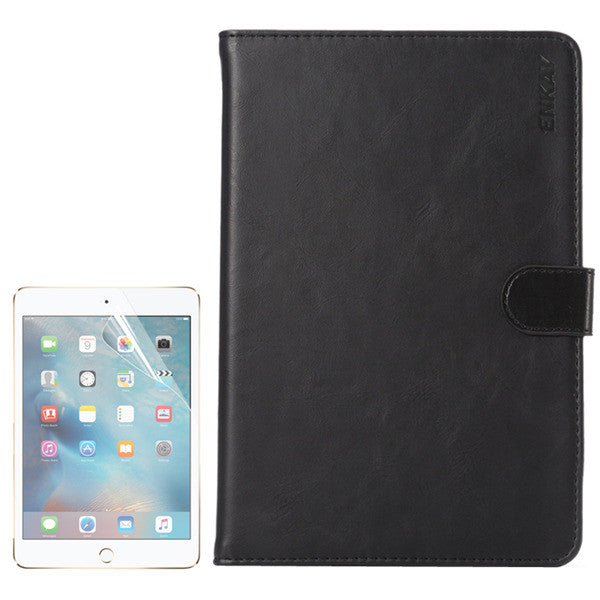 ENKAY HD PET Screen Protector Film + PU Card Slot Stand Case Cover Shell For iPad Mini 4