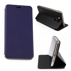 Flip Magnetic Stand PU Leather Protective Case For DOOGEE Y6 Y6C Y6 Piano Black