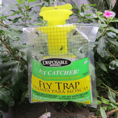 2Pcs Outdoor Disposable Fly Trap Catcher Station Yellow Hanging Style