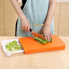 Multi-function Creative 2 in 1 Drawer Cutting Board Cutting Plate Plastic Chopping Block Plate