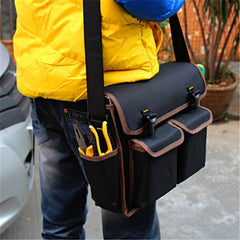 Multifunction 600D Polyester Material 13inch Electrician Canvas Tools Bag