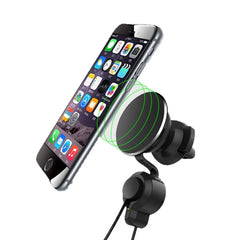 3 in 1 Nano Micro Suction Car Holder Magnetic Charging Phone Stand for iPhone Samsung Xiaomi