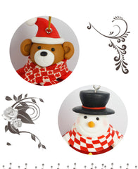 Christmas Party Home Tree Decoration Hanging Cartoon Ball Ornament Toys For Kids Children Gift
