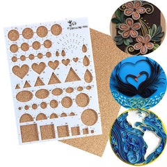 Paper Quilling Template Board Papercraft DIY Tool Scrapbooks 210*150*7.5mm