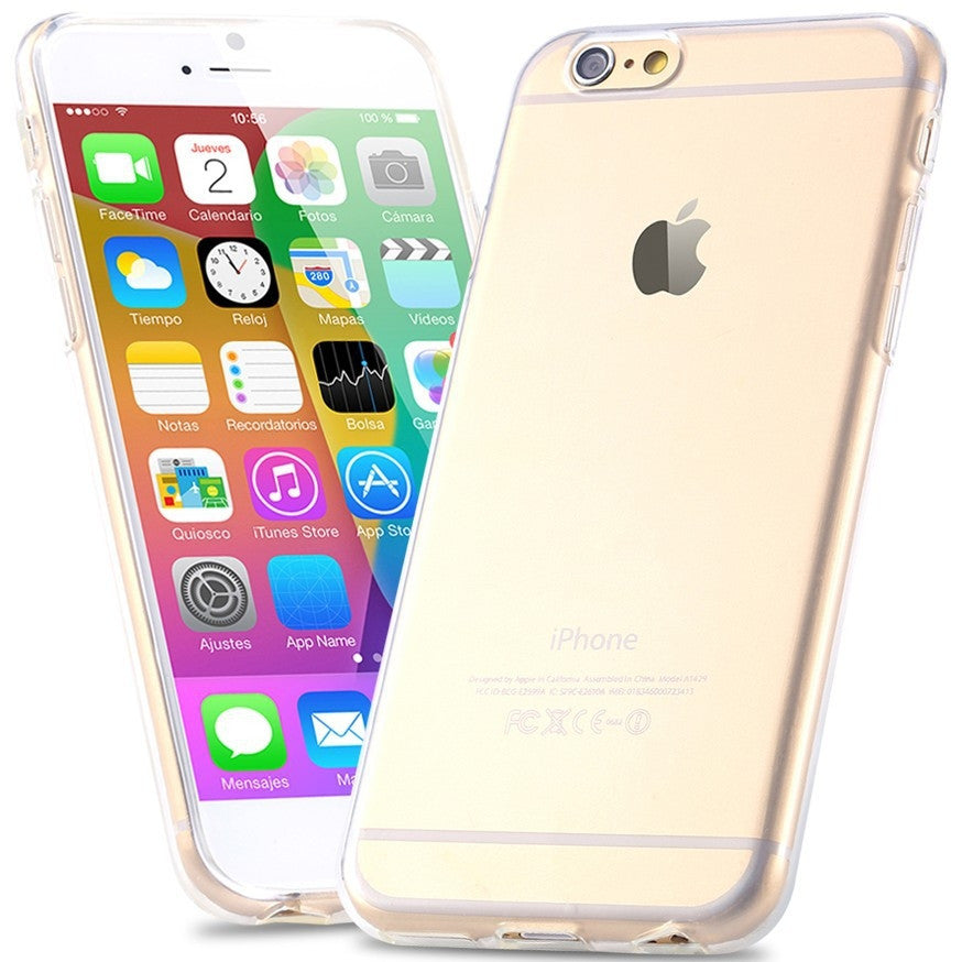 Transparante iPhone cover-Diverse kleuren (iPhone 6- 6+)